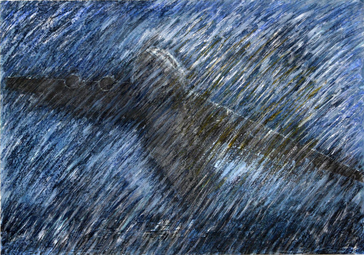 Überzeichnungen Flugobjekte - 36 x 50 cm